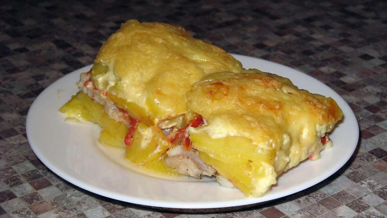 Рыба с духовке с картошкой в духовке рецепт пошагово в
