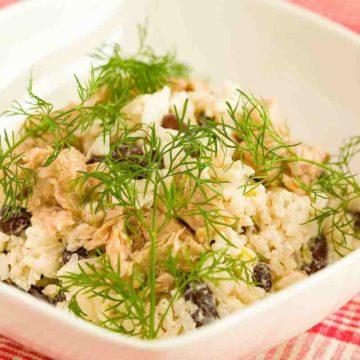 Салат творожно-рыбный
