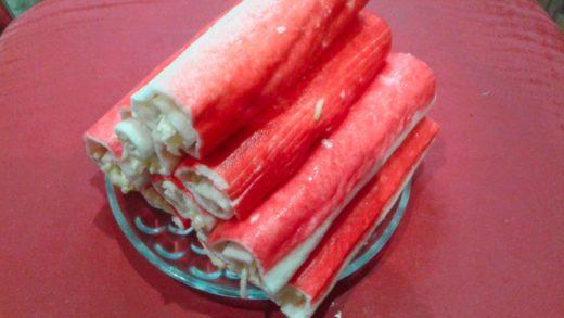 Закуска из крабовых палочек рецепт