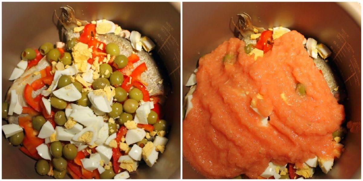 Красноперка под томатным пюре