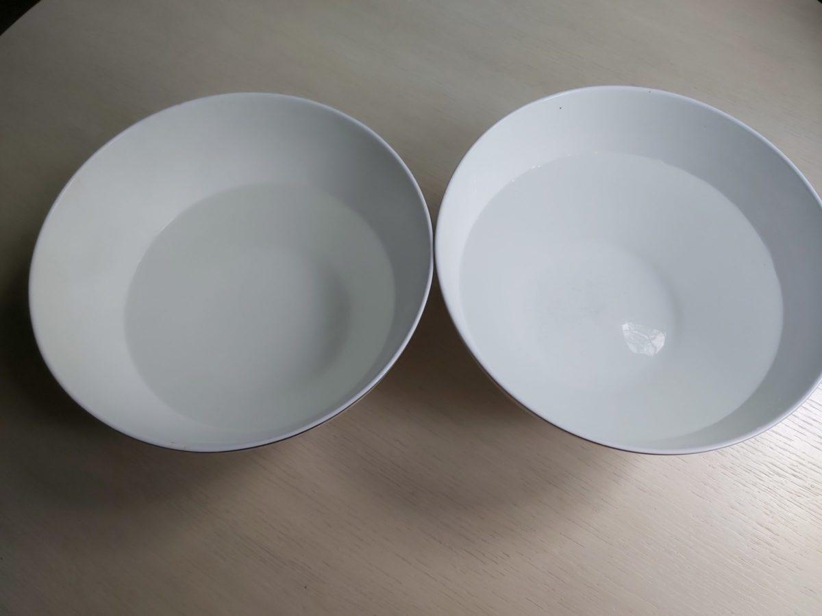 Тарелки с водой