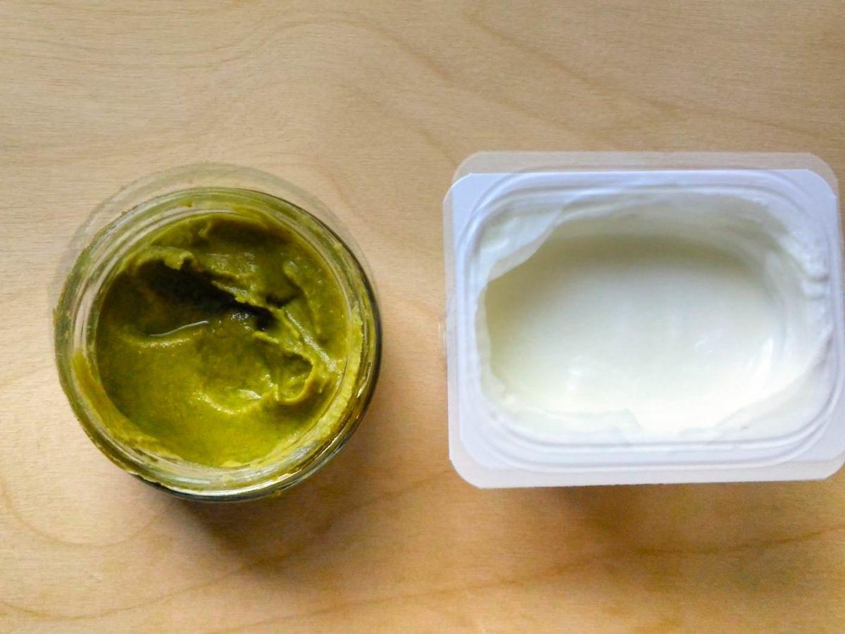 Васаби и натуральный йогурт