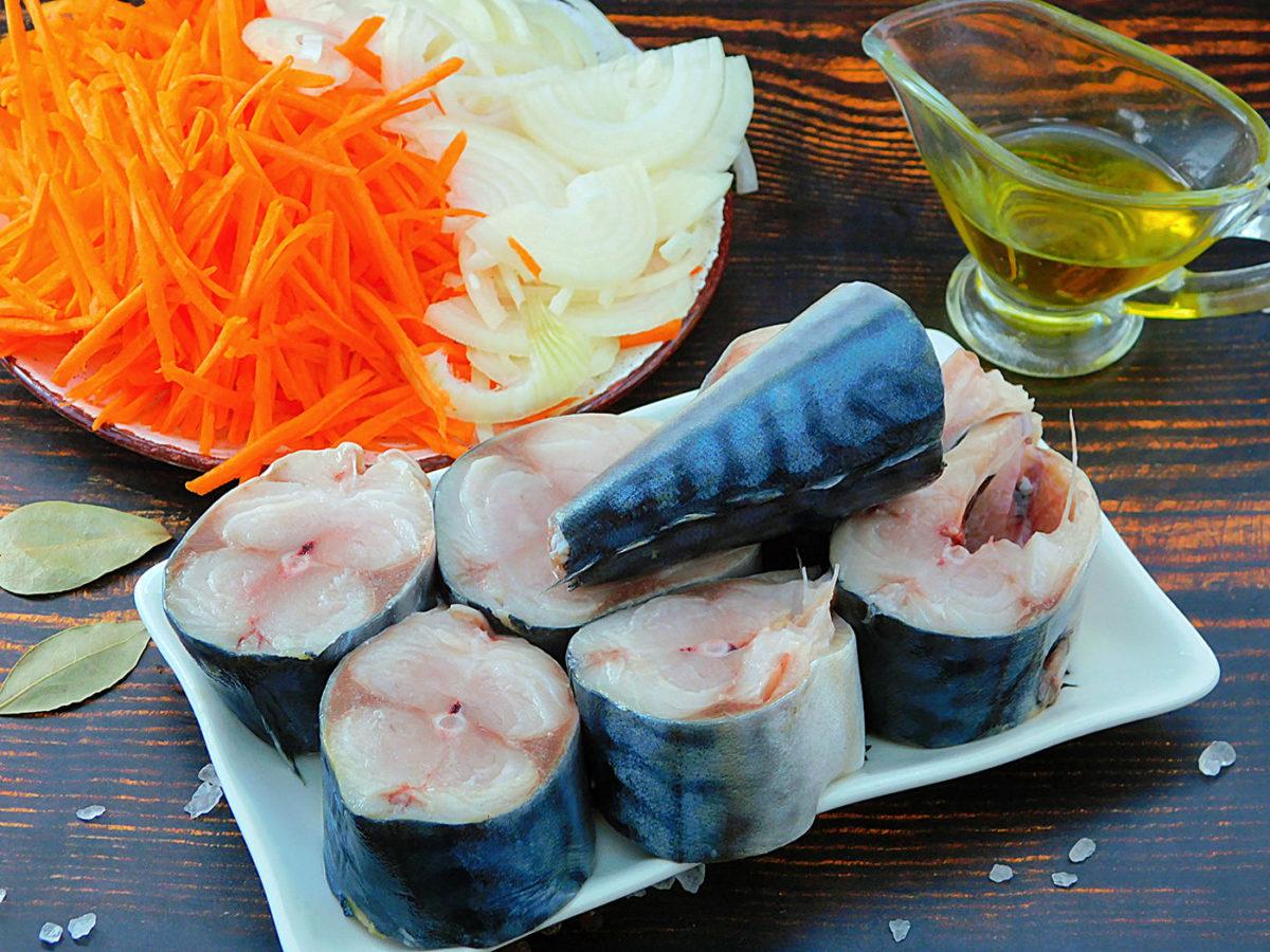 Подготовка овощей и рыбы